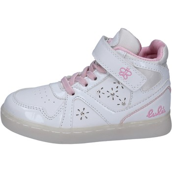 Chaussures Fille Baskets montantes Lulu sneakers cuir synthétique blanc