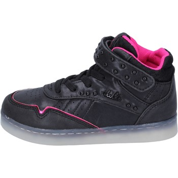 Chaussures Fille Baskets montantes Lulu sneakers cuir synthétique noir