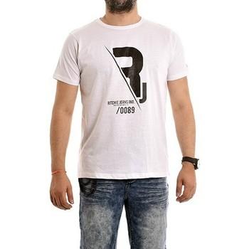 Vêtements Homme T-shirts manches courtes Ritchie T-shirt pur coton organique NABAS Blanc