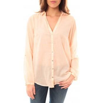 Vêtements Femme T-shirts manches longues Palme Chemise Courte Rose clair 50597 Rose