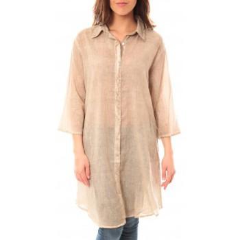 Vêtements Femme Robes courtes Palme Tunique Honolulu 47262 Beige Beige