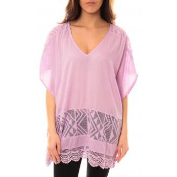Vêtements Femme Robes courtes Lara Ethnics Tunique Courte Lina Violet Violet