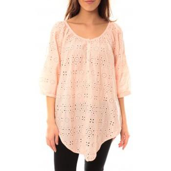 Vêtements Femme T-shirts manches courtes Lara Ethnics Chemisier Maria Rose Rose