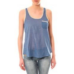 Vêtements Femme Débardeurs / T-shirts sans manche Lara Ethnics Débardeur Ambre Bleu Bleu