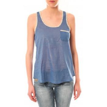 Débardeurs / T-shirts sans manche Lara Ethnics Débardeur Ambre Bleu
