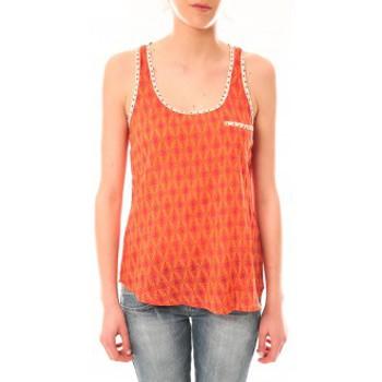 Vêtements Femme Débardeurs / T-shirts sans manche Lara Ethnics Débardeur Ambre Orange Orange