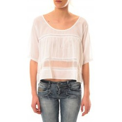 Vêtements Femme T-shirts manches courtes Lara Ethnics Top Wendy Blanc Blanc