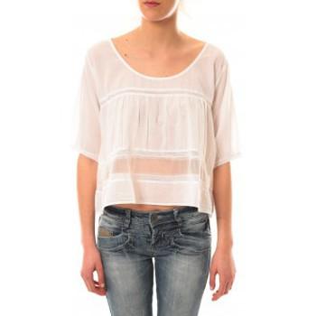 T-shirts manches courtes Lara Ethnics Top Wendy Blanc
