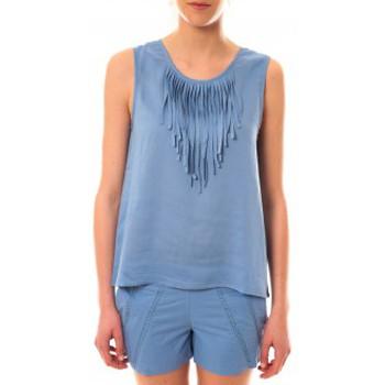 Vêtements Femme Débardeurs / T-shirts sans manche Lara Ethnics Débardeur Maelys Bleu Bleu