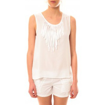 Vêtements Femme Débardeurs / T-shirts sans manche Lara Ethnics Débardeur Maelys Blanc Blanc