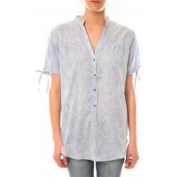 Vêtements Femme T-shirts manches courtes Lara Ethnics Tunique Morgane Bleu Bleu