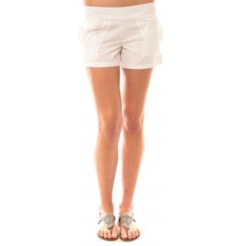 Vêtements Femme Shorts / Bermudas Lara Ethnics Short Lola Blanc Blanc