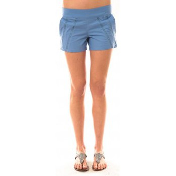 Vêtements Femme Shorts / Bermudas Lara Ethnics Short Lola Bleu Bleu