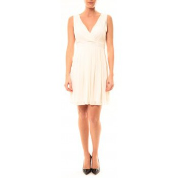 Vêtements Femme Robes courtes Vera & Lucy Robe Enzoria 9291 Beige Beige