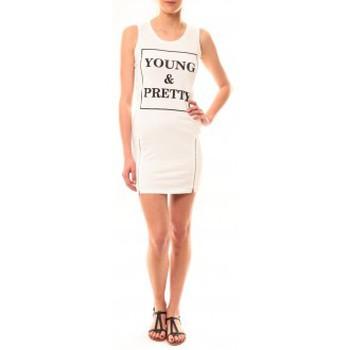 Vêtements Femme Robes courtes Vera & Lucy Robe Young MC1577 Blanc Blanc