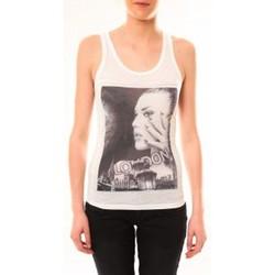 Vêtements Femme Débardeurs / T-shirts sans manche By La Vitrine Débardeur D2709 Blanc Blanc