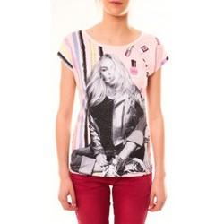 Vêtements Femme T-shirts manches courtes By La Vitrine Top Clara 1104 Beige Beige