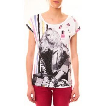 Vêtements Femme T-shirts manches courtes By La Vitrine Top Clara 1104 Blanc Blanc