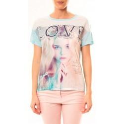 Vêtements Femme T-shirts manches courtes By La Vitrine Top Love B002 Vert Vert