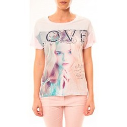T-shirts manches courtes By La Vitrine Top Love B002 Rose