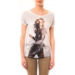 Vêtements Femme T-shirts manches courtes By La Vitrine Tee-shirt MC1497 Blanc Blanc