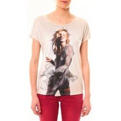 Vêtements Femme T-shirts manches courtes By La Vitrine Tee-shirt MC1497 Rose Rose