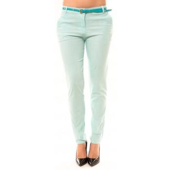 Vêtements Femme Pantalons 5 poches Dress Code Pantalon Luizaco L705 Vert Vert