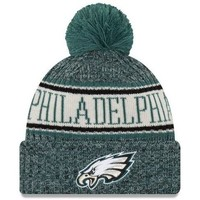 Accessoires textile Bonnets New Era Bonnet pompon Philadelphia Eagles  SPORT KNIT Vert