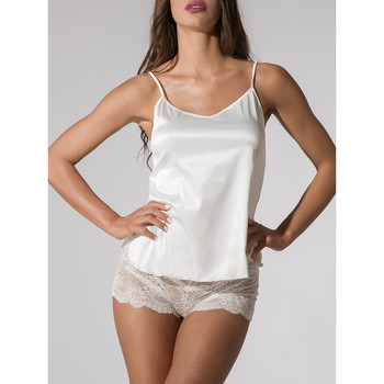 Vêtements Femme Pyjamas / Chemises de nuit Luna Caraco satin Prestige ivoire  Splendida Ivoire