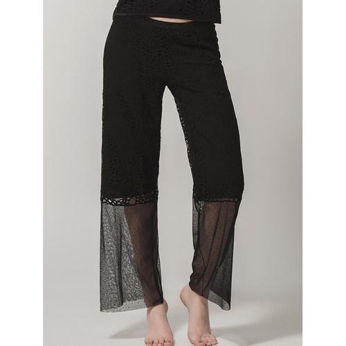 Vêtements Femme Pantalons fluides / Sarouels Luna Pantalon Prestige Lounge  Splendida Noir