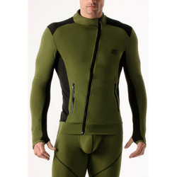 Vêtements Homme Sweats Code 22 Veste de compression Code22 Kaki