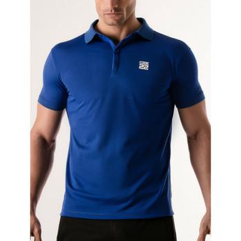 Vêtements Homme Polos manches courtes Code 22 Polo Pinhole Code22 Bleu