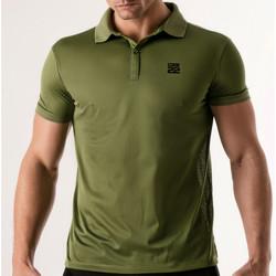 Vêtements Homme Polos manches courtes Code 22 Polo Pinhole Kaki