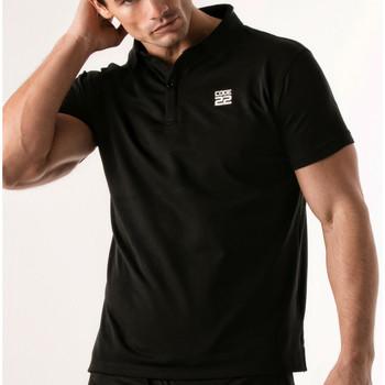 Vêtements Homme Polos manches courtes Code 22 Polo Pinhole Code22 Noir