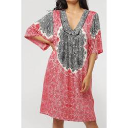 Vêtements Femme Robes courtes Admas Robe de plage manches trois-quarts Beach Paisley Rouge