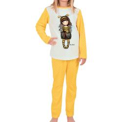 Vêtements Femme Pyjamas / Chemises de nuit Admas Pyjama top manches longues et pantalon Bee-Loved Santoro London Jaune