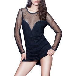 Vêtements Femme Robes courtes Luna Robe manches longues Prestige Lounge  Splendida Noir