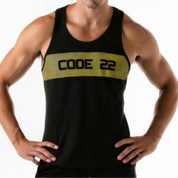 Vêtements Homme Débardeurs / T-shirts sans manche Code 22 Débardeur Wide Stripe Code22 Noir