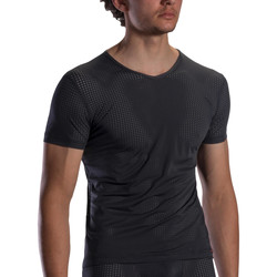 Vêtements Homme T-shirts manches courtes Olaf Benz T-shirt col V RED1871 Noir