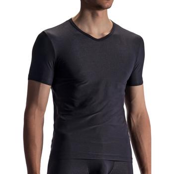 Vêtements Homme T-shirts manches courtes Olaf Benz T-shirt RED1866 Noir