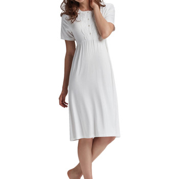 Vêtements Femme Pyjamas / Chemises de nuit Admas Chemise de nuit Premama Ivoire