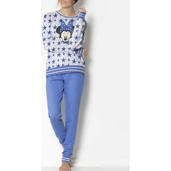 Vêtements Femme Pyjamas / Chemises de nuit Disney Pyjama bleu Minnie Stars Bleu
