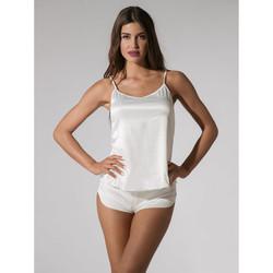 Vêtements Femme Pyjamas / Chemises de nuit Luna Short Prestige de Ivoire