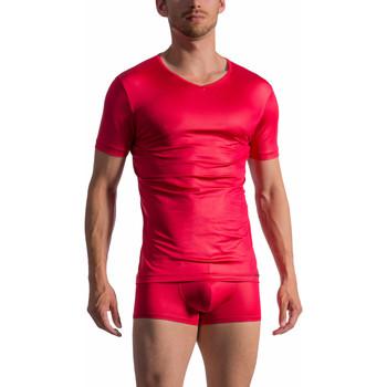 Vêtements Homme T-shirts manches courtes Olaf Benz T-Shirt manches courtes col V RED 1763 Rouge