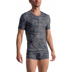 Vêtements Homme T-shirts manches courtes Olaf Benz T-Shirt manches courtes col V RED 1767 Gris