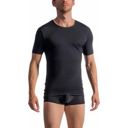 Vêtements Homme T-shirts manches courtes Olaf Benz T-Shirt manches courtes RED1761 Noir