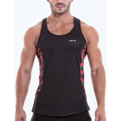 Vêtements Homme Débardeurs / T-shirts sans manche Code 22 Débardeur Camo Noir