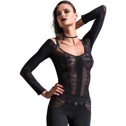 Vêtements Femme Tops / Blouses Les P'tites Folies Top Aretha des P'tites Folies by Catanzaro Noir
