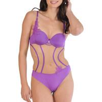Sous-vêtements Femme Bodys Lisca Body String Divine  Selection Violet