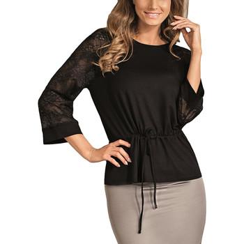 Vêtements Femme Tops / Blouses Lisca Top dentelle manches trois-quarts Véronica Noir